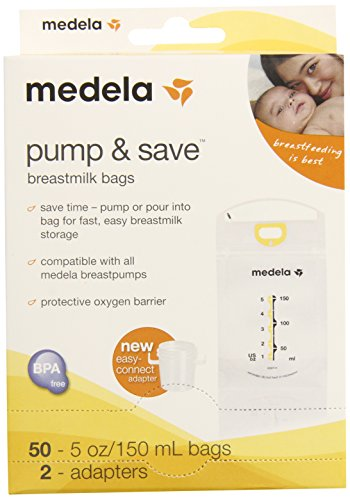 Preisvergleich Produktbild Medela Pump and Save Breast Milk Bags, 50 Count
