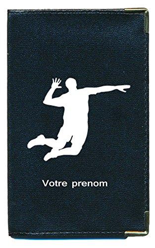 Syl'la , Fahrausweishülle schwarz Volley ball personnalise avec votre nom