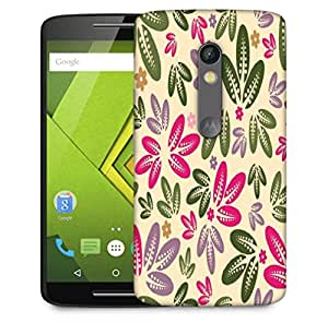 Snoogg Multicolor Leaves Designer Protective Phone Back Case Cover For Motorola Moto X Play