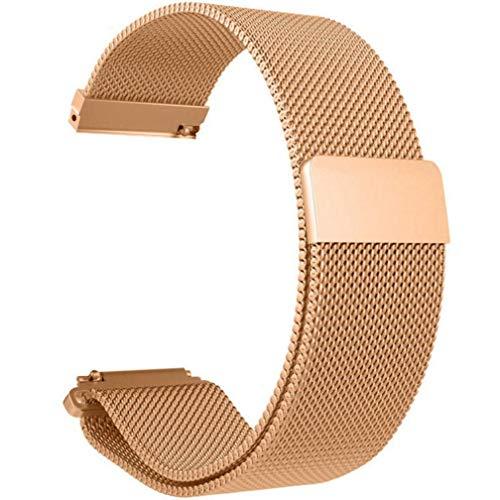 Gusspower Banda De Reloj De Pulsera De Acero Inoxidable Metalica Correa para Xiaomi Huami Amazfit Bip Youth Watch (Oro Rosa)