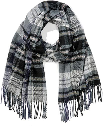 PIECES Damen PCFIAN LONG SCARF Schal, Mehrfarbig Stormy Weather, One Size