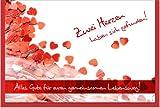 metalum Premium-Glückwunschkarte zur Hochzeit mit hochwertiger Metallverzierung
