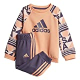 adidas Baby Printed Terry Jogginganzug, Chalk s18/haze Coral/Trace Purple s18, 98