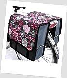 T-JOY-18 Fahrradtasche JOY Flower pink Kinderfahrradtasche Satteltasche Gepäckträgertasche 2 x 5 Liter KINDER