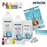 Metacril Starter Kit Chlor per Trattamento Acqua a Base di Cloro in pastiglie da 20gr. Ideale per Piscina o Idromassaggio (Teuco,Jacuzzi,Dimhora,Intex,Bestway, ECC.). Spedizione IMMEDIATA