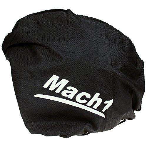 Mach1® Jethelm Motorradhelm schwarz Roller Scooter Helm Größe XS bis XXL mit abnehmbarem Schirm (Größe 63-64 cm XXL) (Schwarz-matt, 57-58cm (M)) - 6