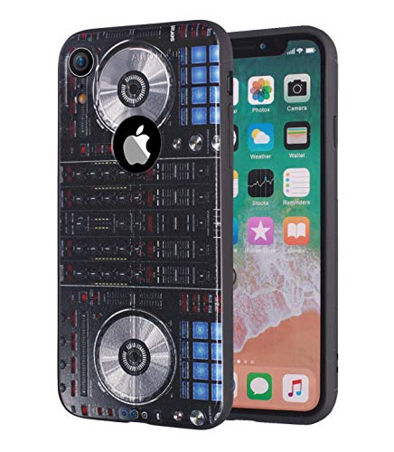 iPhone XR Hülle, Premium TPU [Ledertextur-Design] Ultra Dünn Flexible Stoßdämpfende Silikon-Gummi-Schutzhülle für Apple iPhone XR (15,1 Zoll) - DJ-Mixer-Controller