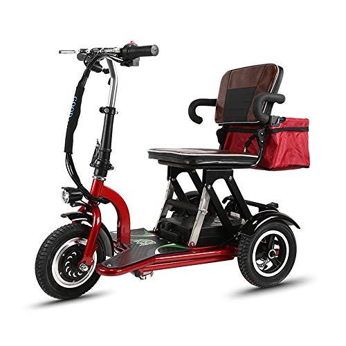 AA-folding electric bicycle ZDDOZXC Minifaltendes Elektroauto, dreirädriges Minipedal-Elektroauto, erwachsenes tragbares Lithium-Batterie-Batterie-Auto im Freien