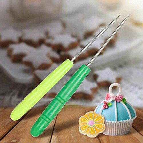 aliciashouse 5pcs acciaio inox biscotto Zucchero a velo Ago Zucchero a velo Ago cottura pasticceria