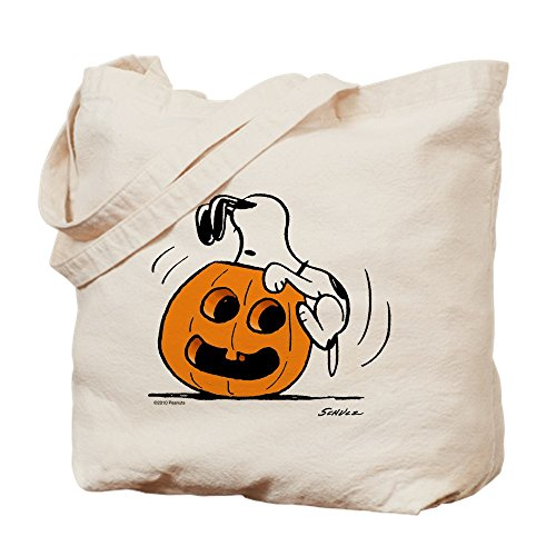 CafePress Snoopy Jack O' Lantern Tasche für Trick or Treat, canvas, khaki, ()