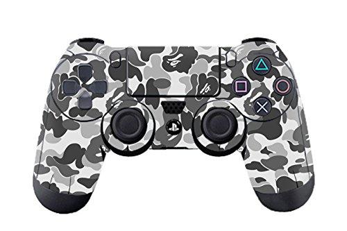 dotbuy PS4Vinyl Aufkleber Decal Skin Sticker von Schutz für Sony Playstation 4Controller x 1 grau Graffiti Grey