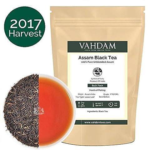 Assam Black Tea Leaves from India (225 Cups),Second Flush Season Harvest Loose Leaf Tea, World's Best Black Tea Full Leaf, Ftgfop1, Rich & Malty Loose Leaf Tea, 16 Ounce Bag, 454gm