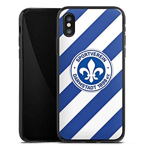 Apple iPhone X Silikon Hülle Case Schutzhülle Bundesliga Fußball Darmstadt98 Silikon Case schwarz
