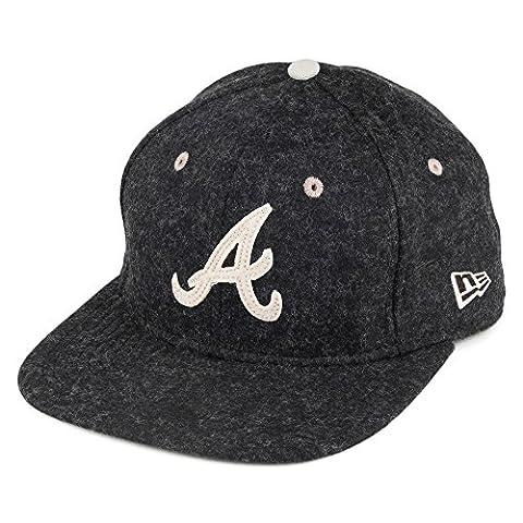 New Era 9FIFTY Atlanta Braves Snapback Cap - Felt Wool Snap - Charcoal Small/Medium