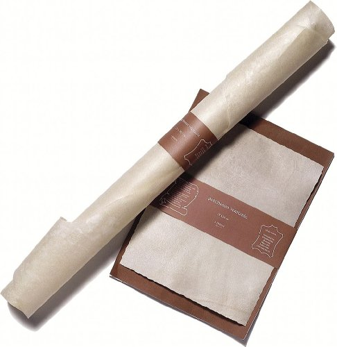 J.herbin 92000t - carta da lettere con 1 foglio in vera pelle di pergamena, 19 x 24 cm