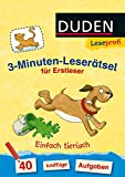 DUDEN Leseprofi 3 Minuten Leserätsel: Leseprofi – 3-Minuten-Leserätsel für Erstleser: Einfach tierisch: 40 knifflige Aufgaben