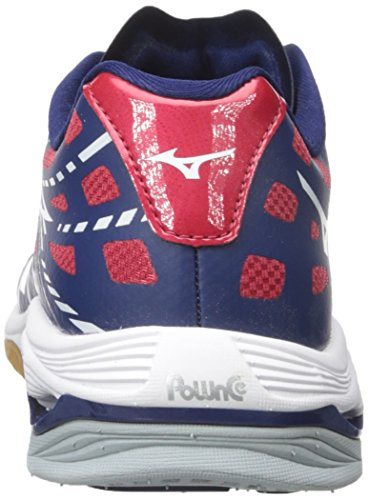 Mizuno Wave Lightning Z Toile Baskets Blue-White-Red