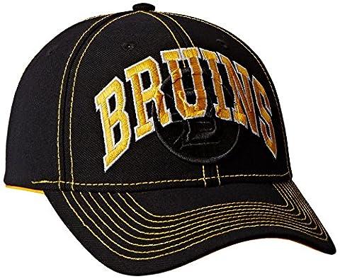NHL Boston Bruins Men's Face-Off Slap Shot Structured Adjustable Cap, One Size, Black
