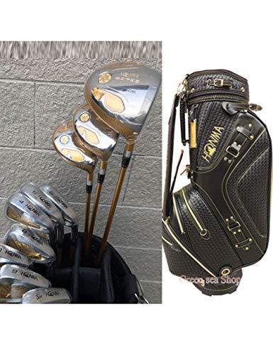 HDPP Golfschläger Herren Golfschläger S-05 Golf Kompletter Schlägersatz Driver + 3/5 Fairway Holz + Eisen + Putter + Bag Graphit Golfschaft -