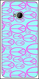 Snoogg Peace Symbol Pattern 2894 Designer Protective Back Case Cover For HTC M7