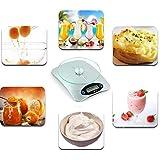JKYQ Échelle de la Plate-Forme de Cuisine numérique de précision Balance de ménage électronique 4mm Amovible échelle de Verre trempé 20 * 15CM