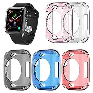 starter Uhr Silikonhülle – Tasche Für Apple Watch IWatch S4 Serie 4, Ultradünne TPU Hülle 360   Grad Soft Slim Rundum Transparente Shell Schutzhülle 40MM / 44MM