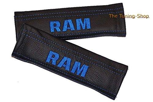 2x cintura cover imbottito spalla nero in pelle blu da Edition per (Mazda 6 Oem Sostituzione)