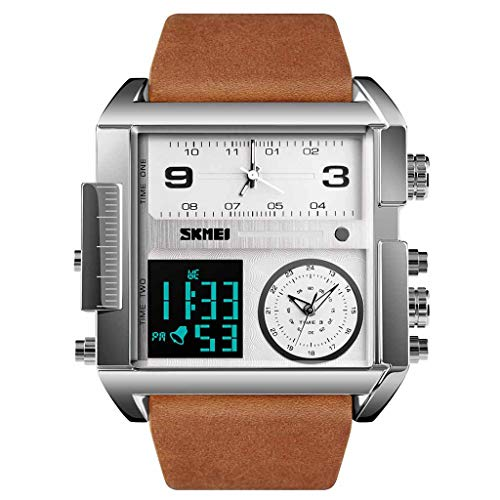 Haludock Herren 30M wasserdichte Multifunktions-Sportuhr Square Fashion Electronic Watch -