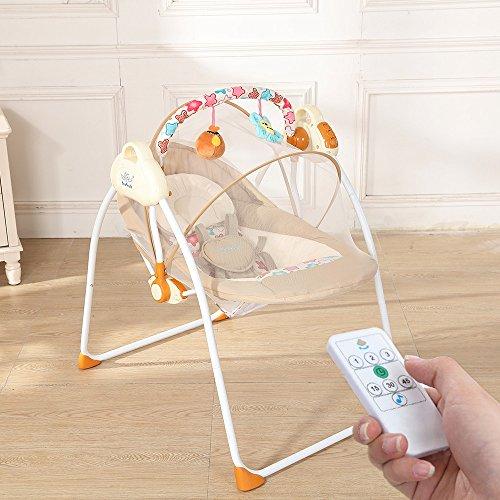 Decdeal Elektrische Babyschaukel Automatische Baby Wiege für 0-12 Monate Baby, mit Handy...