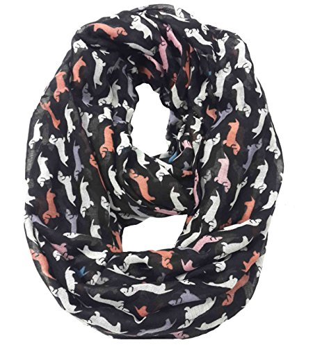 Lina & Lily Dachshund Hunde Damen Loop Schal (Multi-Farben) Multi Print Scarf