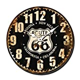 eurosell–Horloge Murale Design Horloge murale, 40cm Route66