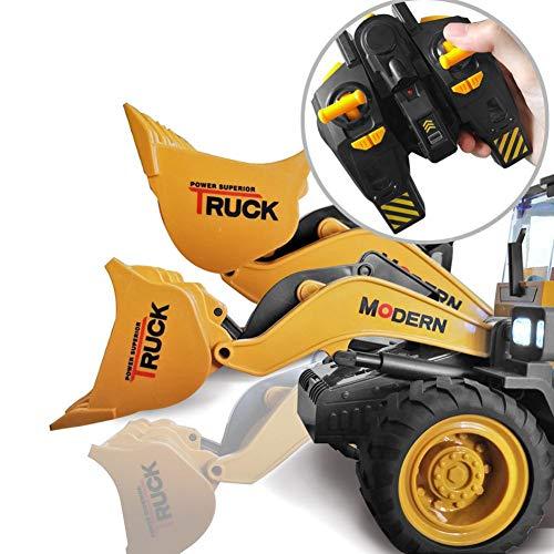 RC Auto kaufen Spielzeug Bild 5: 332PageAnn Rc Bagger Spielzeugauto Radlader Baufahrzeuge, 6 Kanal Simulationsfahrzeug Geburtstagsgeschenk Für Kinder*