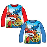 SUPER WINGS Camiseta Manga Larga (3, Azul)
