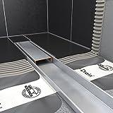 ESS edelstahl Duschrinne Komplettset Easy Drain Compact 30 FF 90 cm - Die Flach-ste der Welt!
