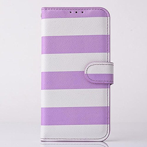 "inShang Hülle für Apple iPhone 6 Plus iPhone 6S Plus 5.5 inch iPhone 6+ iPhone 6S+ iPhone6 5.5"", Cover Mit Modisch Klickschnalle + Errichten-in der Tasche + ZEBRA STRIPE SHIP DECORATION, Edles PU Lede stripe purple"