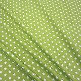 Stoff Baumwollstoff Baumwolle Sterne grün hellgrün