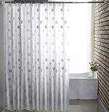 NYDZDM Tenda da doccia Impermeabile per Bagno, Tenda da Bagno Impermeabile, Tenda da Doccia Trasparente in Eva (Size : 120 * 200cm)
