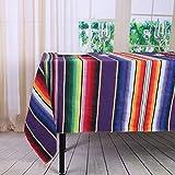 YZEO New Mexikanischen Tischdecken 2144,8x 259,1cm (145x 260cm) Mexikanischen Tabelle beinhaltet, Mexikanischen Streifen Tischdecken, Mexikanischer Stil Decken