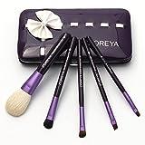 Neverland 5 pcs pinceaux de maquillage ensemble de brosse avec étui Fondation Eyeshadow souple Pinceaux Outil Cosmetic Violet