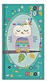 2018–2019Mid Jahr Academic Taschenkalender/Pocket Size Slim, Teal Owl - 3190