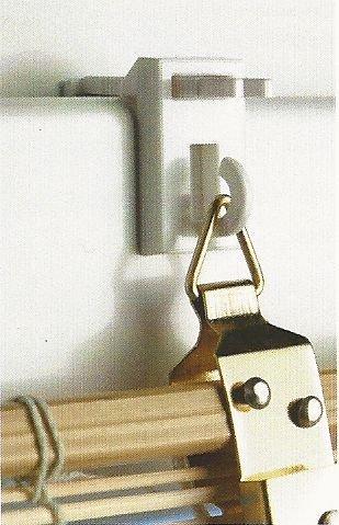 Klemmträger für Bambusrollo oder leichten Fensterschmuck (2er Set)