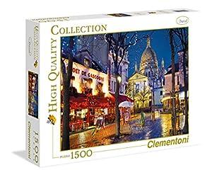 Clementoni Parigi Montmartre 31999-Puzzle Collezione Alta qualità Paris, 1500 Pezzi, Multicolore, Travel 806585