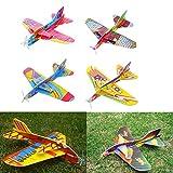 AXIANNV 2 stücke Kinder Spielzeug Magie KreisverkehrFlugzeug Schaum Papier Flugzeug Modell Hand Werfen Fliegen Segelflugzeug Flugzeuge Spielzeug Für Kinder, 2 stücke, 2 stücke