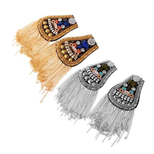 MagiDeal 2 Paar Epaulettenabzeichen Geeignet für Uniform, Kostüm Anzug Kleid (Kostüme Uniform Paar)