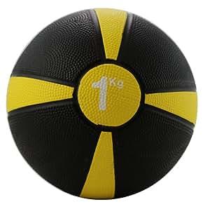 Fitness-Mad Apollo Medicine Ball - 1kg - Yellow Stripe