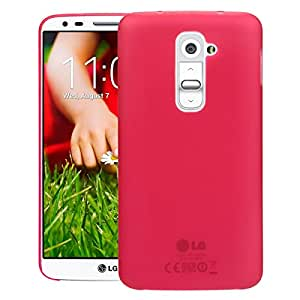 Swan LG G2 D802T Case, [Scratch Protection Only 0.5mm][For Minimalists][True Fit] Case Back Cover for LG G2 D802T - Red