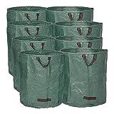 WOLTU 8X Gartensack 272L XXL Abfallsack Selbstaufstellend Laubsack Gartenabfälle Sack PP Gartenabfallbehälter 150g/m²