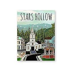 A&D Poster und Kunstdrucke Stars Hollow Poster Inspiriert von Gilmore Girls Leinwand Gemälde Wandkunst Bild für Wohnzimmer Wohnkultur-50x70cmx1pcs-Kein Rahmen