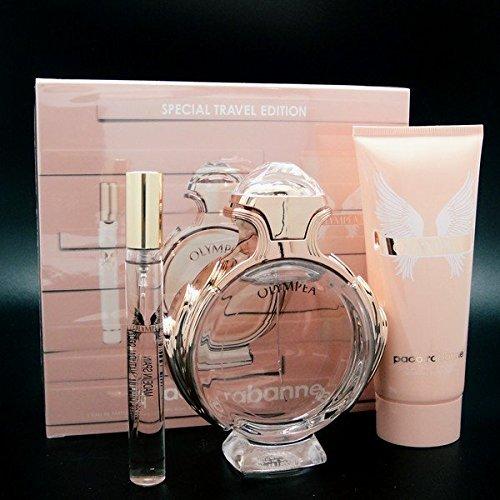 Paco Rabanne OLYMPEA Set 80ml Eau de Parfum + 10ml Tschenspray EDP + 100ml Body Lotion (De Ml Eau Spray Parfum 10)