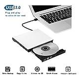 Externes DVD Laufwerk USB 3.0 DVD-RW DVD/CD Brenner Externe Optische Laufwerk für Laptop/Desktops/Notebook/MacBook Pro/Air, unterstützt Windows Vista/XP/7/8/10/iMac OS